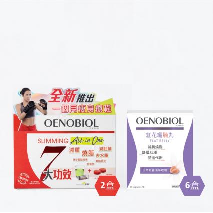 OENOBIOL®歐諾美 【綜合瘦身│加強減腩】2個月療程套裝